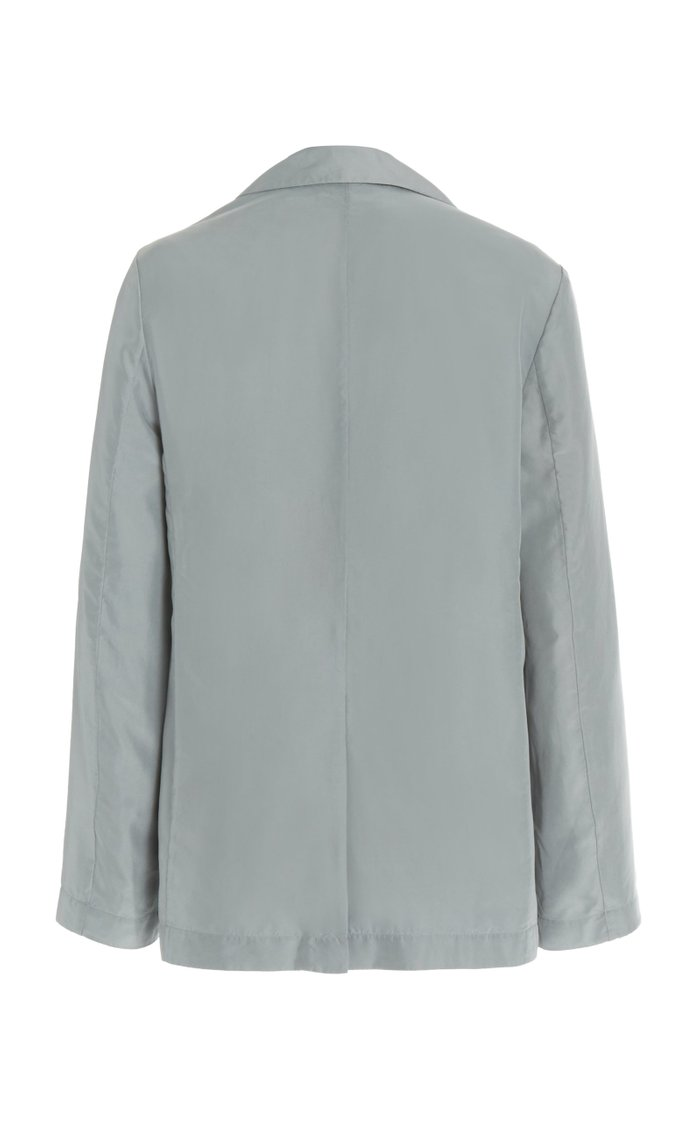 Draped Silk Blazer