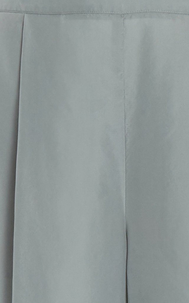 Draped Silk Culottes