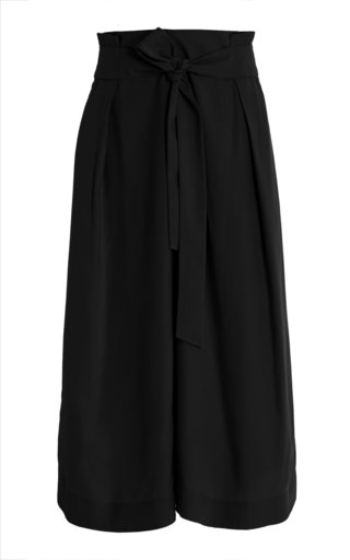 Belted Palazzo Jersey Culottes