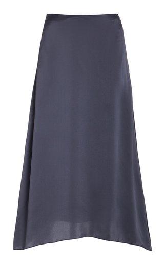 Draped Satin Slip Skirt