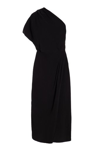One Shouldered Draped Jersey Dress