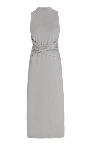 Wrap Detail Cotton-Blend Dress