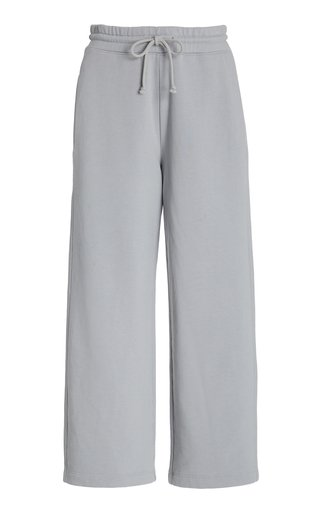 Cropped French Terry Cotton Pants