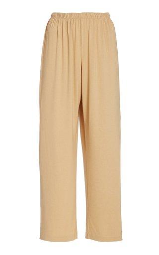 Cropped Jersey Wide-Leg Pants