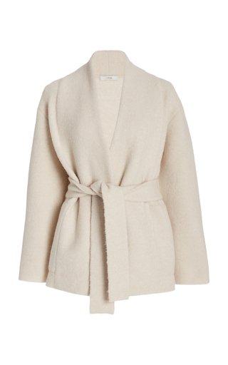 Belted Wool-Blend Cardigan Coat