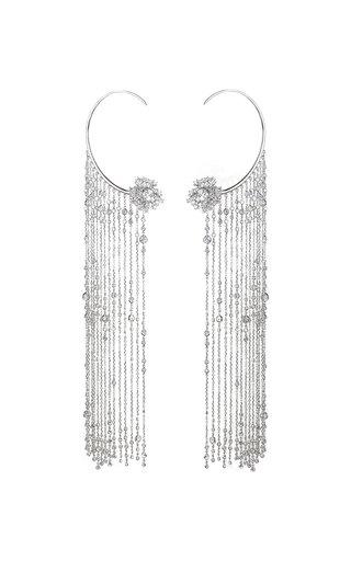 18K White Gold Diamond Rain Fringes Earrings