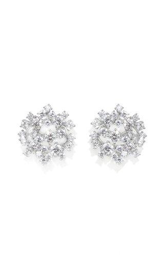 18K White Gold Diamond Rain Earrings