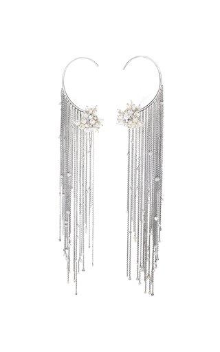 18K White Gold Tzigane Fringes Earrings