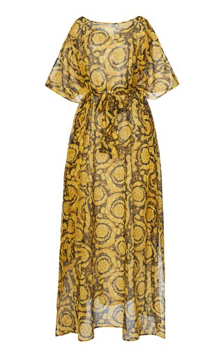 Printed Silk Georgette Maxi Dress