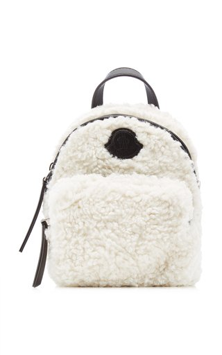 Kilia Small Faux Shearling Backpack