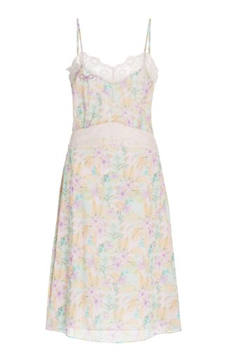 Rusalina Lace-Trimmed Cotton Dress