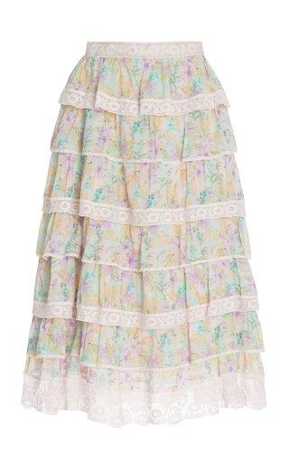 Borneo Tiered Cotton Skirt