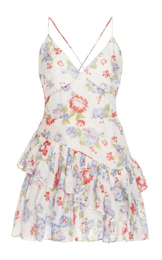 Marion Printed Cotton-Silk Dress