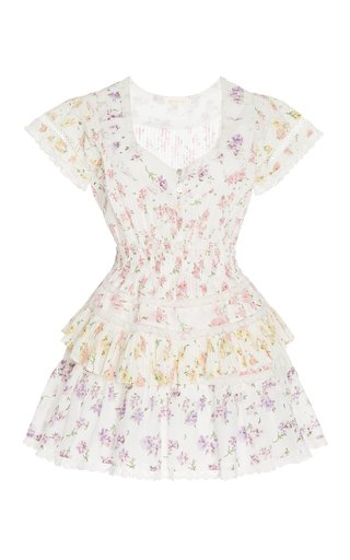 Jeromie Smocked Cotton Mini Dress