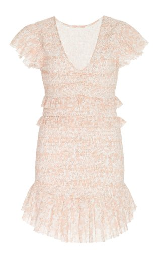 Sonora Smocked Cotton Mini Dress