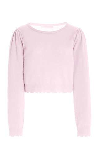 Lune Wool-Cashmere Knit Cropped Top