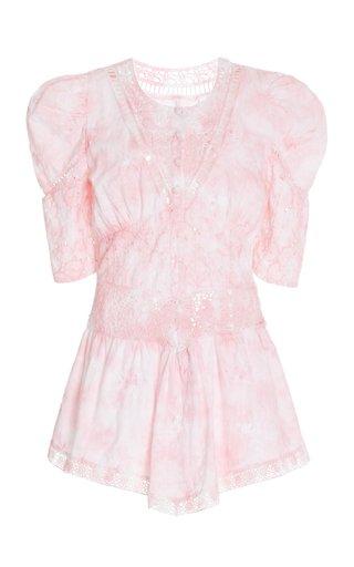Divine Cotton-Broderie Mini Dress