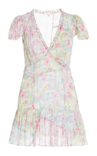 Russ Floral Crepe Mini Dress