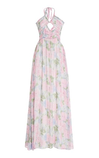 Donovan Cutout Georgette Maxi Dress