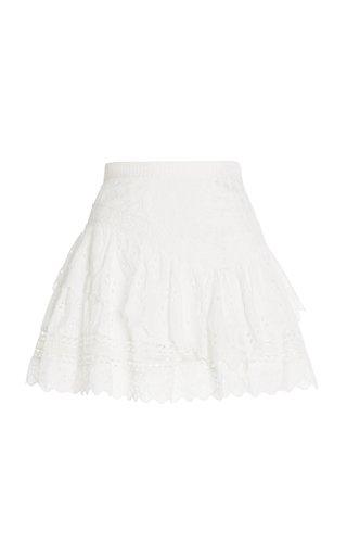 Zeta Smocked Cotton Mini Skirt