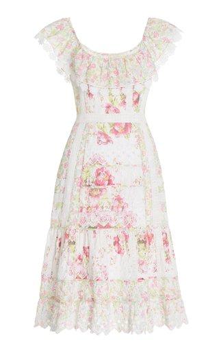 Faustine Floral Cotton Midi Dress
