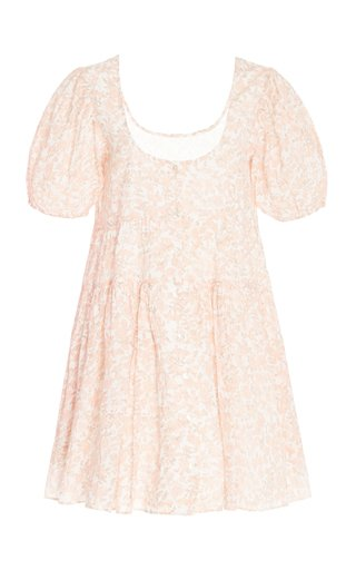 Runa Floral-Printed Cotton Mini Dress