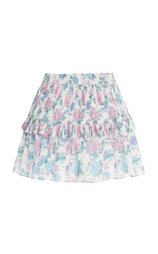 Ignacia Floral Cotton Mini Skirt