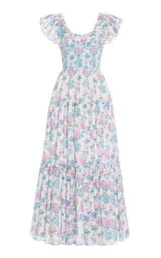 Chessie Floral-Printed Cotton Maxi Dress
