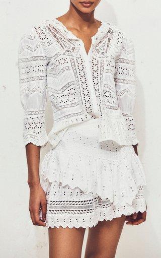 Aaron Tiered Silk Mini Skirt