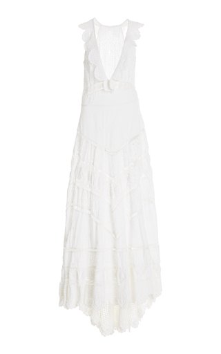 Hasina Crochet-Trimmed Cotton Gown
