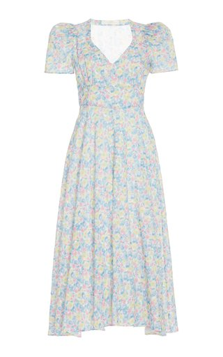 Hutchinson Printed Cotton Midi Dress
