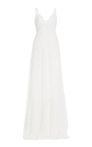 Celestia Silk-Lace Gown