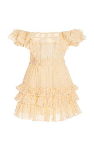 Ivoire Tiered Cotton-Silk Dress