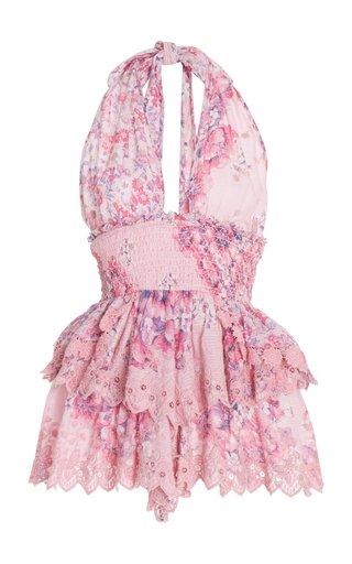 Deanna Cotton Halter Dresss