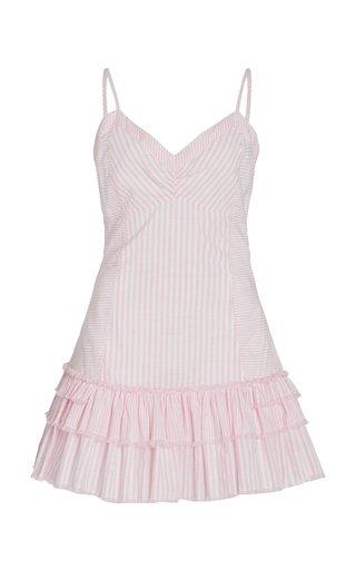 Arleigh Striped Cotton Mini Dress