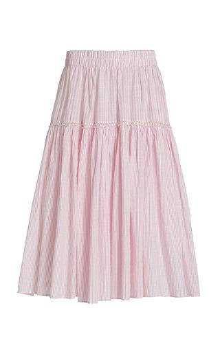 Stefana Striped Cotton Skirt