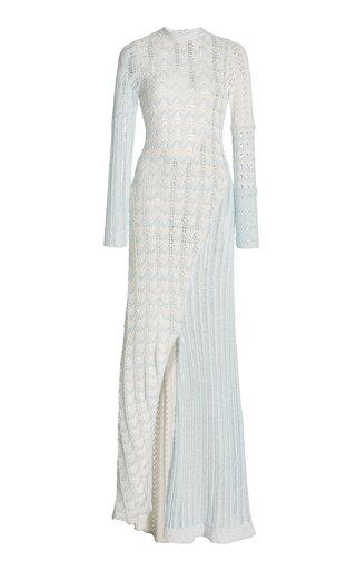 Tam Multi-Tonal Cotton-Knit Gown