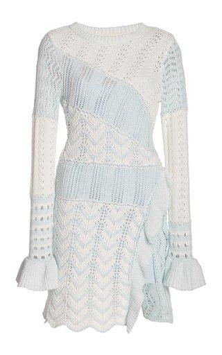 Kaelyn Patchwork-Knit Mini Dress