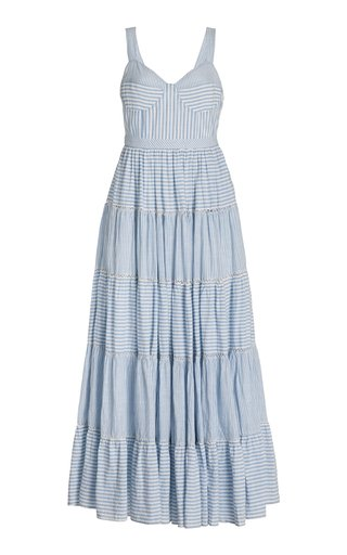 Story Striped Cotton Maxi Dress