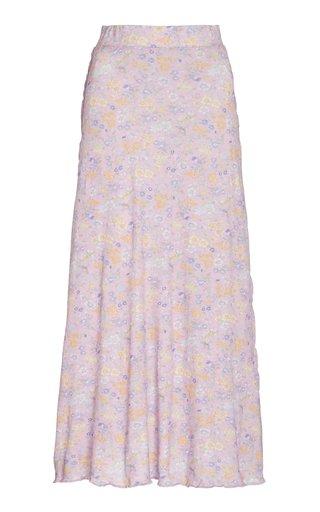 Vida Cotton-Blend Midi Skirt