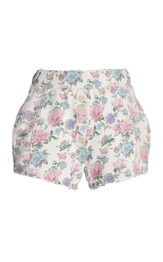 Renato Floral Cotton Shorts
