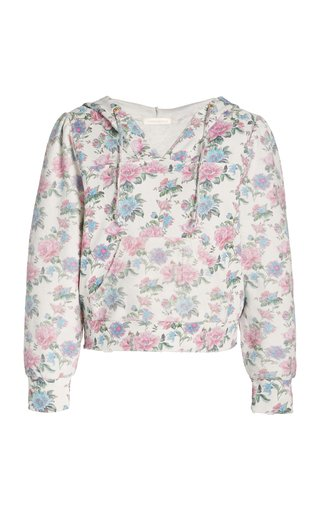Kirby Floral Cotton Hooded Sweatshirt
