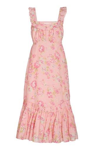 Weslan Cotton-Silk Midi Dress