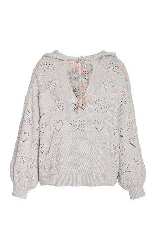 Alder Pointele-Knit Hooded Sweater
