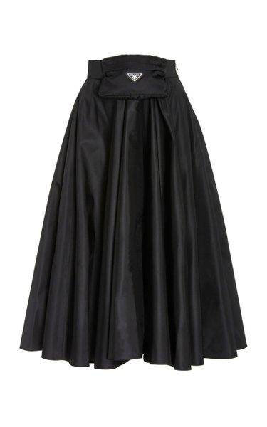 Nylon Full Midi Skirt