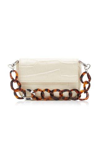 Tommy Croc-Effect Leather Shoulder Bag