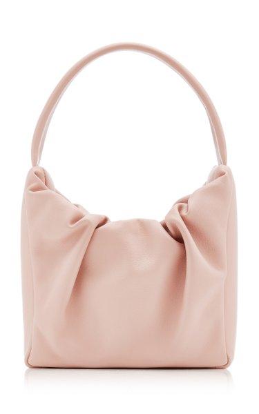 Felix Ruched Leather Shoulder Bag