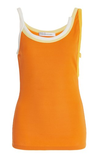 Verner Asymmetric Ribbed Jersey Top