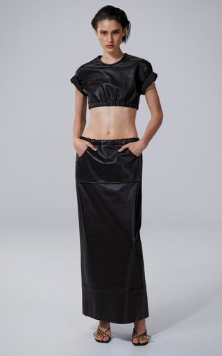 Cargo Leather Skirt