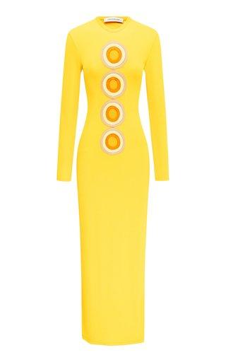 Verner Disc Cutout Knit Dress